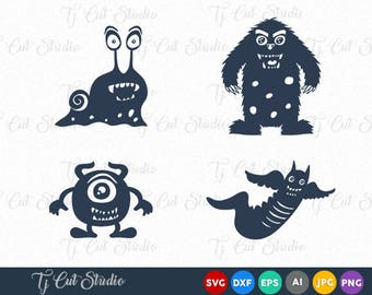 Monsters SVG, Funny monsters, halloween svg, Svg Files for Silhouette Cameo or Cricut