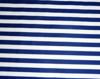 Blue and white stripes paper towel