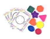 Button Shape Matching Activity for Toddlers - Montessori Busy Bag - Language Development - Preschool Classroom - Homeschool - Travel Games