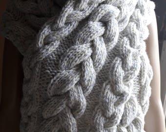 Knitted handmade scarf, scarf woman, wool scarf knitted scarf handmade scarf, hood scarf scarf 0182