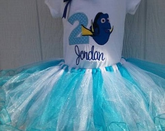 Finding Dory Tutu Embroidered Shirt/Onesie