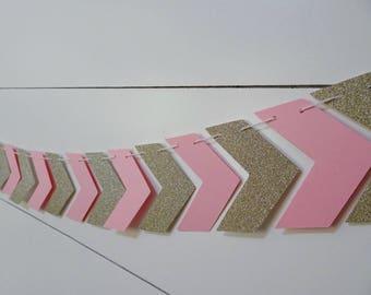 Pink & Gold Arrow Banner