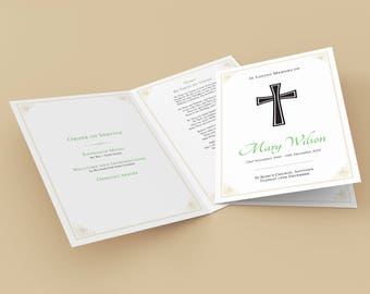 Traditional A5 (148 x 210mm) Black Cross - Order of Service