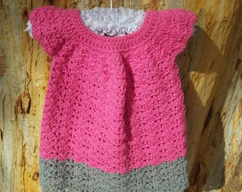 Baby crochet dress, size 6 month to 1 year