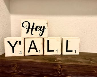 Custom Scrabble Tiles and Letters Home Decor - Choose Your Letters!