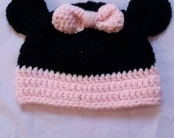 Wool crochet bow Hat