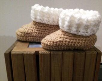 crochet Handmade wool boots