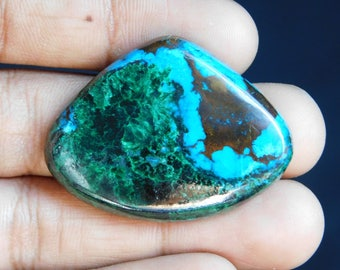 Amazing Chrysocolla gemstone Cabochon Very Gorgeous looking Excellent Quality Natural handmade Gemstone Top quality 85.05cts (31x42x6)mm