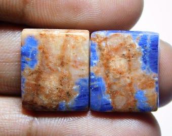 Pair! Natural Sodalite gemstone cabochon Sodalite gemstone Beautifull sodalite loose gemstone sodalite gemstone 23.00cts (17x14x4)mm