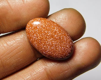 Rare ! Red Goldstone Cabochons Natural Red goldstone Natural Loose stone Gorgeous Loose Gemstone 14.40Cts. (24x15x4)mm