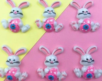Easter Bunny Charm/Cabochon/Resin