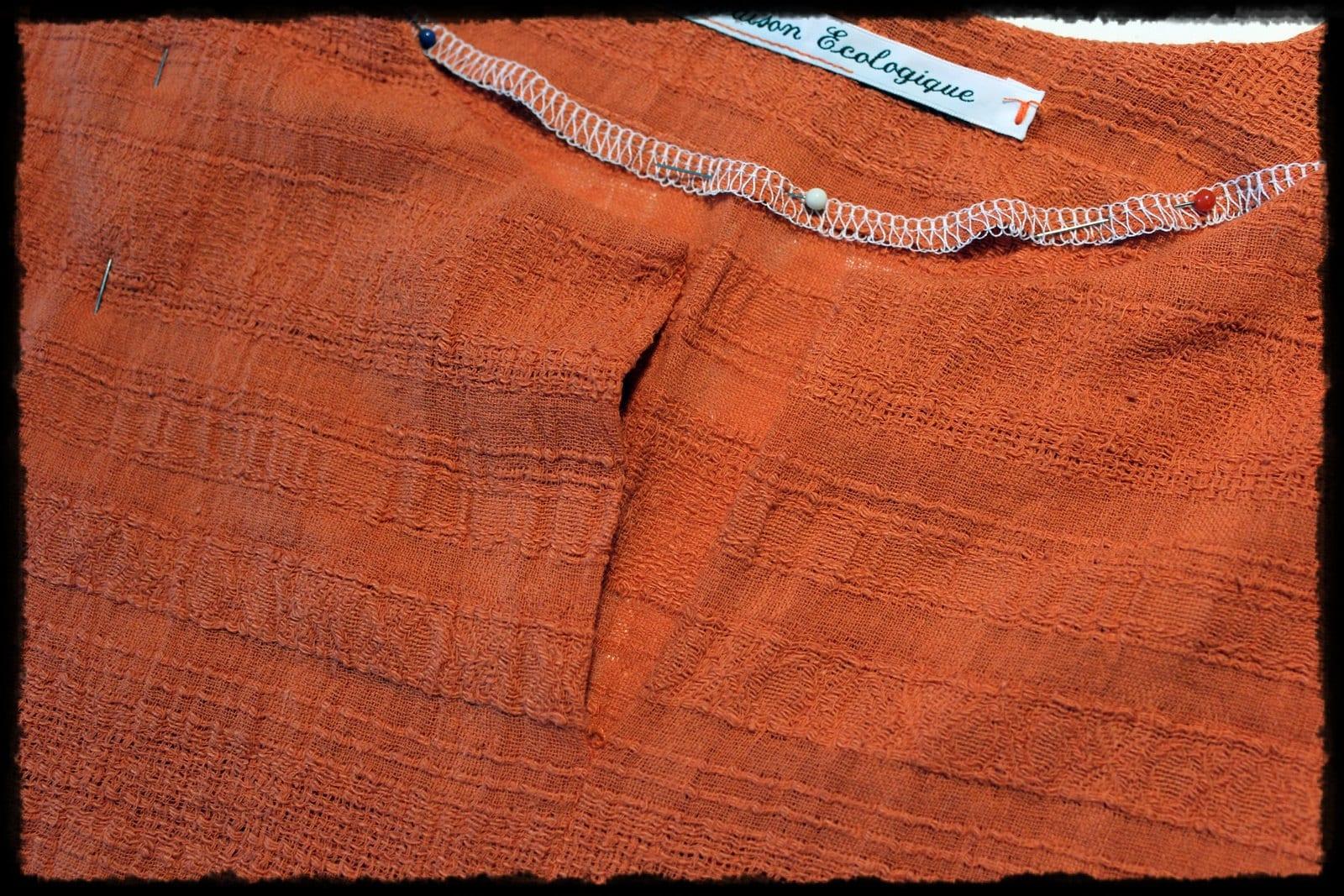Tunique en lin orange pour homme - Tunic in orange linen for men
