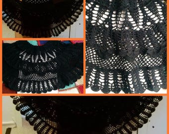 Soldes30%! Code: SOLDESCNS. Chic pretty T 4-6 years, cotton crochet skirt, black color.