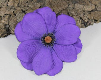 Vintage inspired purple Anemone rockabilly hair flower/Hairflower