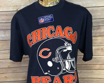 Vintage 80s Chicago Bears Trench T-Shirt (XL)
