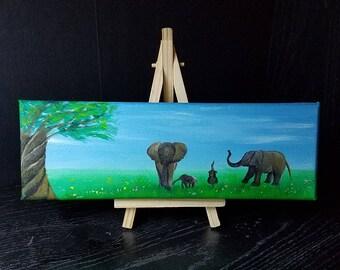Elephants mini Painting