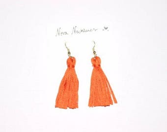 Orange Tassell Earrings
