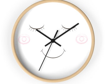 Smiling Wall Clock, clock with a smile, cute clock