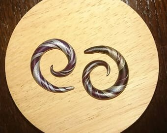 Spiral Gauges, Spiral Earrings, Spiral Plugs 4g/5mm
