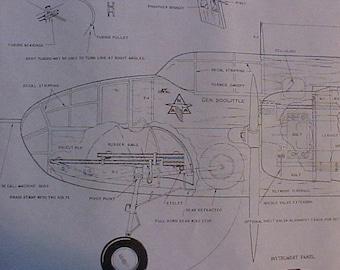 B-25 Mitchell Doolittle Raid Model Airplane Plan
