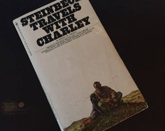 Steinbeck Travels With Charley by John Steinbeck, Vintage Book, 1977, Vintage Paperback Book