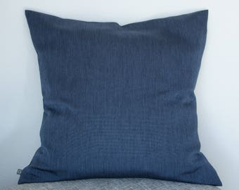 Pillow case blue with rips optics, 60 x 60 cm