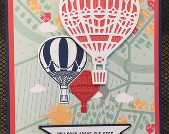 Hot air balloon congratulatins card