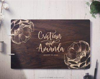 Wedding Guest Book Floral Wedding guest book flower wedding guest book Wedding guestbook Personalized guestbook