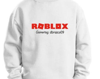 Roblox Kids sweatshirt / With or Without Gamer tag - Made to order / Choose shirt color and size!(unofficial)