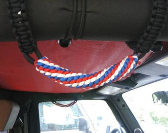 Jeep JK Paracord Grab Handles 3 color- front and rear