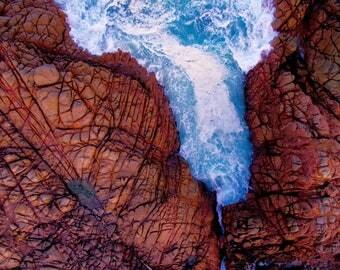 Wall Art | Aerial Photography | Print | Beach | Seascape | Canal Rocks | Western Australia