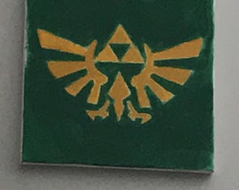 Legend of Zelda Triforce With Wings painted canvas