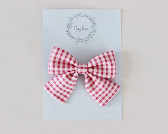 Large Audrey | pink gingham