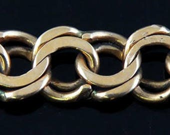 Great Quality Swedish Double Link 18K Yellow Gold Charm Bracelet