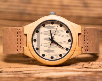 Personalized Wood Watch, Wrist Watch, Groom, Retirement, Best Man, Gifts for Men, Groomsmen Gift, Fathers Day, Christmas, Groomsman MW4