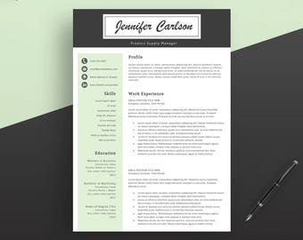 Professional Resume Template. Instant Download. Creative Resume Template. Professional CV Template. Teacher Resume Template. 1,2,3 Pages