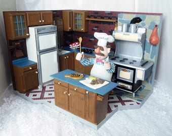 1993 Jim Henson's Muppet Kitchen - 25th Anniversary of the Muppets - Almost Complete Set (Missing some food & dishes)