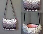 Made to Order -Choose your Color - Crocodile/Dragon Stitch Crochet Purse