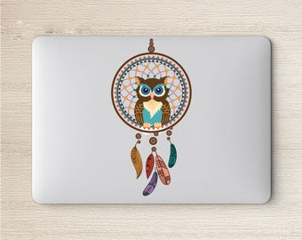 Owl sticker for macbook pro skin macbook sticker macbook air sticker macbook front decal