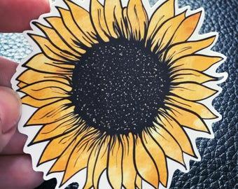 Sunflower/beauty/earth/vinyl sticker/car decal/tumbler decal/laptop sticker