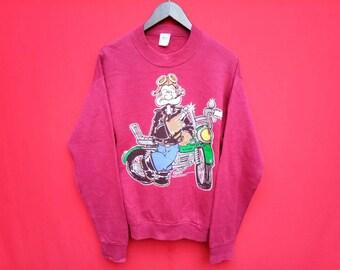 vintage Popeye sweatshirt medium mens size