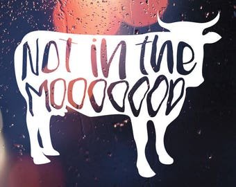 Cow Decal Etsy