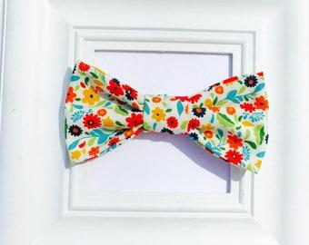 Flower Bow tie, Floral Bow Tie, Floral Wedding, Wedding Bow Tie, Spring Bow Tie, Easter Bow Tie, Baby boy Bow  Tie, Adjustable Bowtie