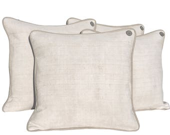 "Antique German Grain Sack Pillow - linen - 18"" x 18"""