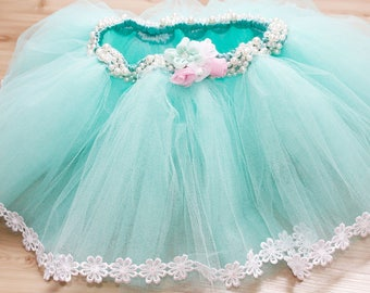 Tutu skirt with pearls (many colors)