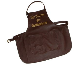 leather apron personalized