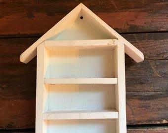 House Shaped Shadow Box / Printers Tray / Display Shelf