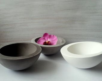 Concrete Bowl, Nuts bowl, Cement bowl, Concrete Fruit bowl