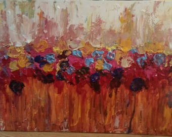 SOLD ~ Abstract acrylic on canvas