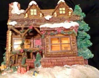 Log Cabin House For Village